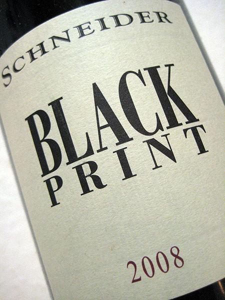 schneider black print