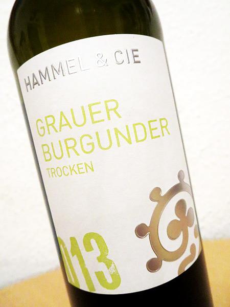2013 Grauer Burgunder trocken - Hammel & Cie