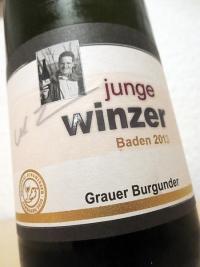 2013 Grauer Burgunder - Junge Winzer