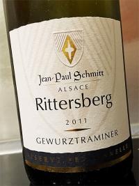 """2011 Gewürztraminer """" Réserve Personelle"""" – """"Rittersberg"""" Jean-Paul Schmitt – Alsace"""